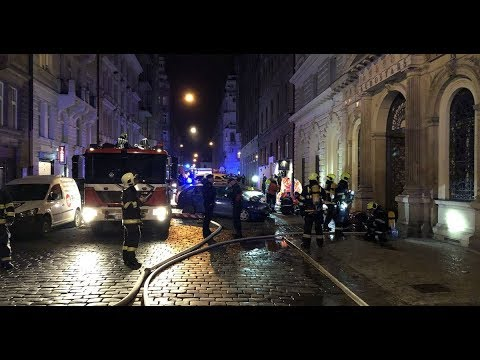 Prague hotel fire Major incident in Czech capital after firefighters evacuate building
