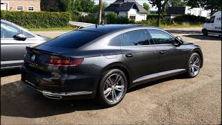 VW Arteon R line in color Mangan Grey Metal