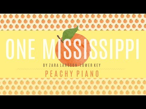 One Mississippi - Zara Larsson (Lower Key) | Piano Backing Track