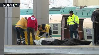 Aftermath of deadly train crash in Turkey that left 9 killed, 47 injured