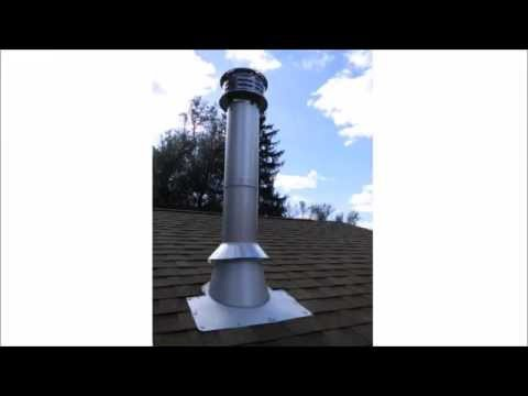 chimney-pipe-installation-for-wood-stove-through-a-flat-ceiling
