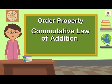 Order Property   Commutative Law of Addition   Maths For Kids   Periwinkle