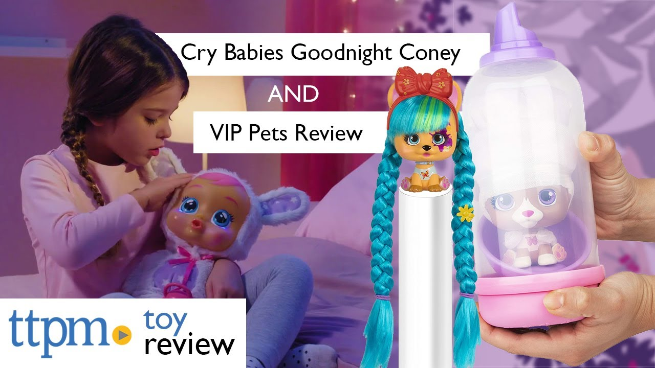 Cry Babies Goodnight Coney and I Love VIP Pets from IMC Toys