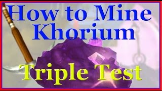How to Mine Khorium Ore - Guide for WoW Mining