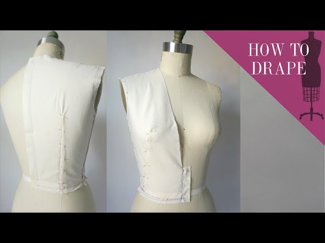 How To Drape A Deep V-neck Bodice