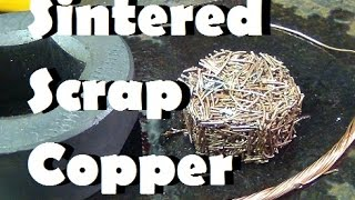 Copper parts from recycled wire sintering