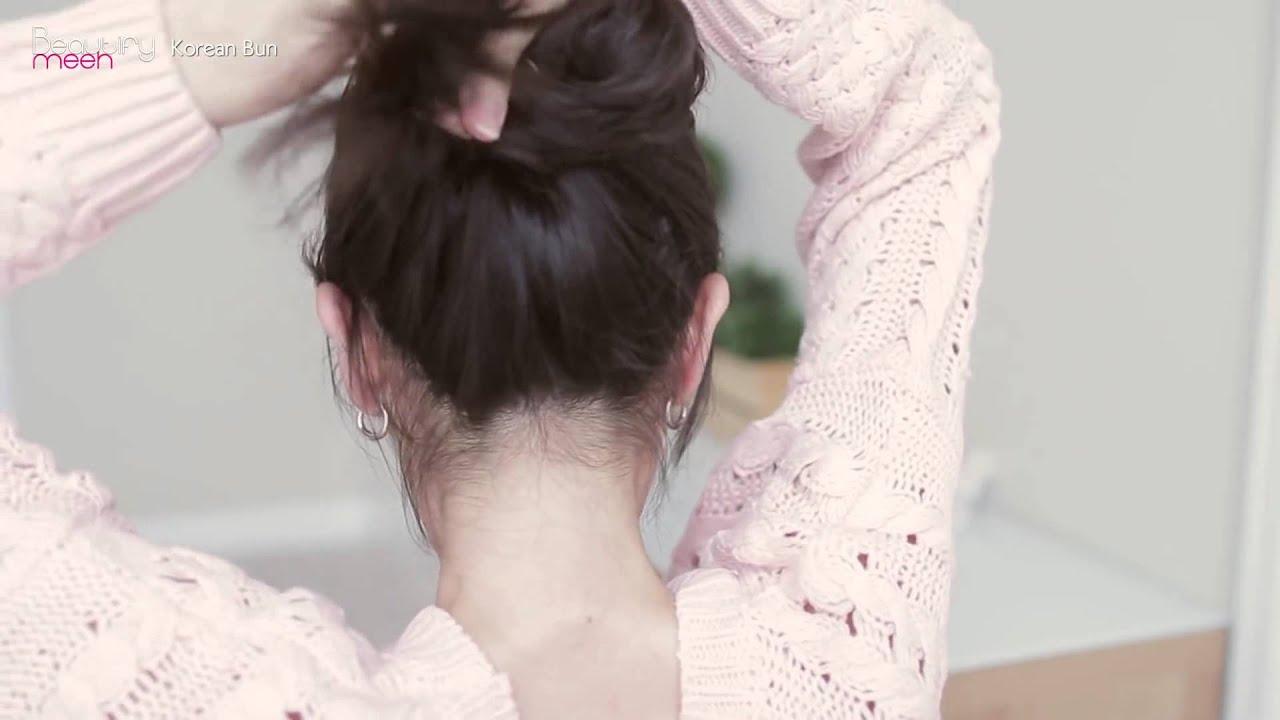 Cách búi tóc kiểu Hàn Quốc cực đẹp