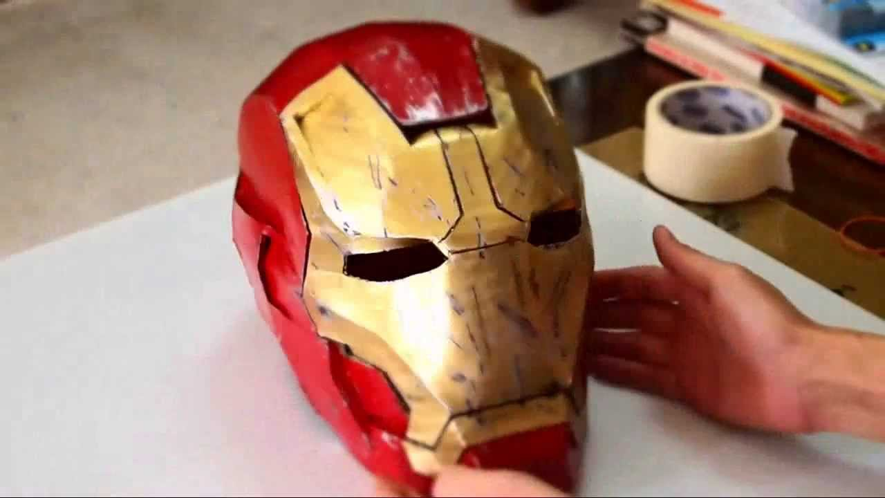 Iron Man Helmet Template Pdf