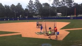 12u shelby smith hitting at florida gators softball