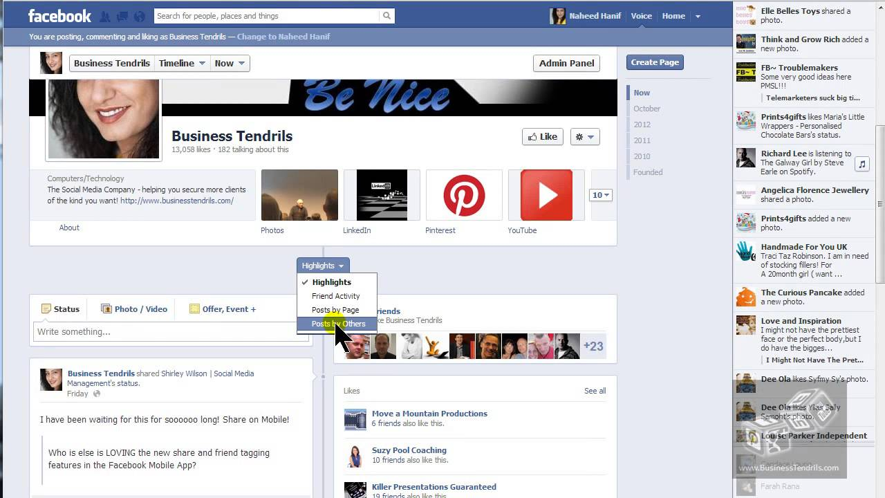Remove unwanted posts on your facebook page in 60 seconds youtube ccuart Image collections