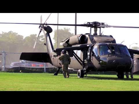 Black Hawk Helicopter Lands on BC High Campus