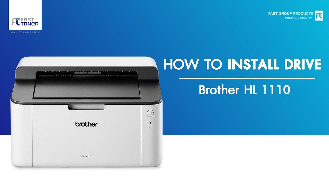 วิธีติดตั้ง Driver BROTHER HL1110 แบบ download