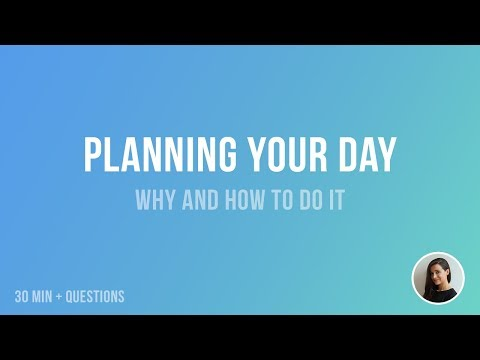 How to plan your day