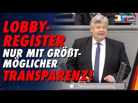 Lobbyregister nur mit größtmöglicher Transparenz! - Thomas Seitz - AfD-Fraktion im Bundestag