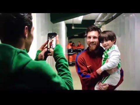 El hijo de Andrés Guardado conoce a Lionel Messi