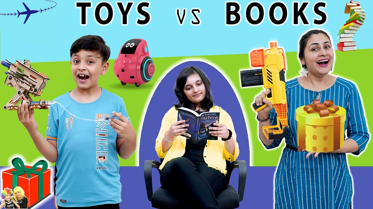 TOYS vs BOOKS SWITCHUP Challenge | Surprise Box | Family Challenge | Aayu and Pihu Show