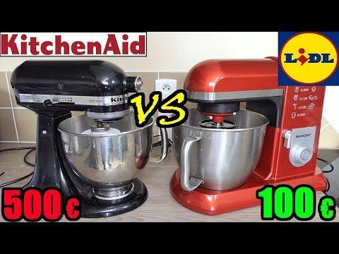 lidl vs kitchenaid robot de cuisine patissier silvercrest artisan