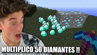 USO EL PICO MULTIPLICADOR PARA MULTIPLICAR 50 DIAMANTES !! MINECRAFT PARTE 18 BYTARIFA GAMING