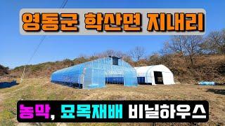 창고,  텃밭 비닐하우스 (충북 영동군 학산면 지내리)…