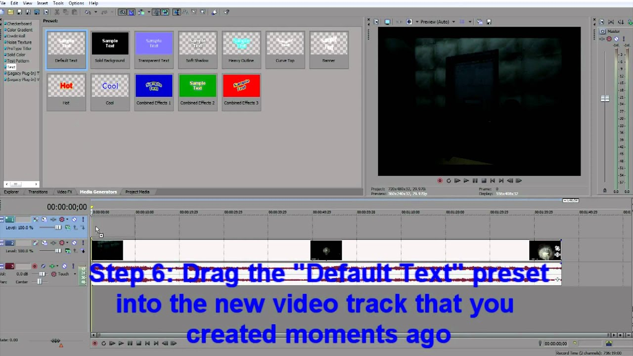 how to add subtitles to video sony vegas