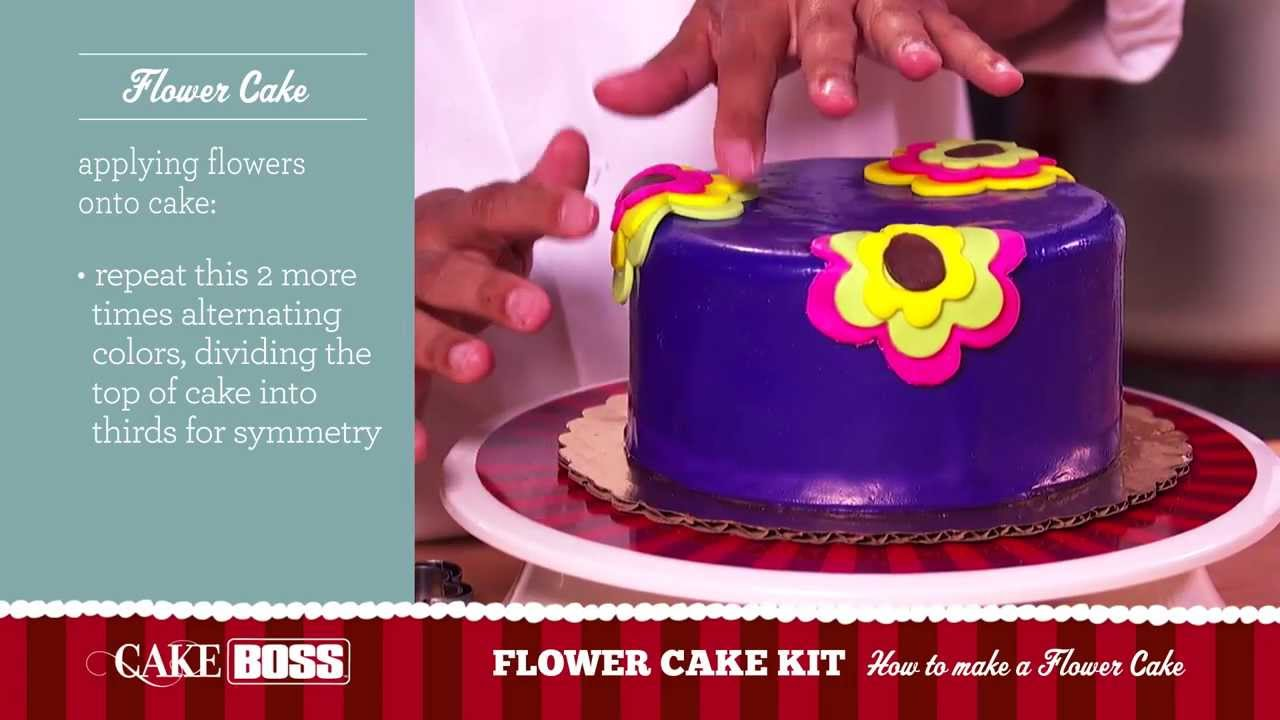 How To Make A Flower Cake Dessert Decorating Tips Tecnhiques Boss Baking You