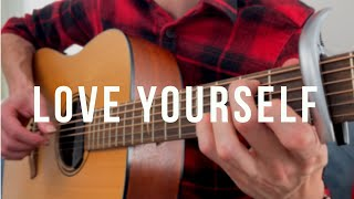 Love yourself — fingerstyle guitar cover + tabs. Кавер на гитаре (Justin Bieber) видео