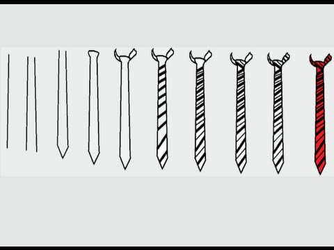 Simple Way To Draw A Tie Step By Step - YouTube