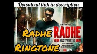 RADHE Ringtone| Salman khan new film's ringtone| how to download radhey films ring tone|Disha patani