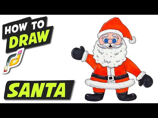 How to Draw SANTA - Fun Easy Simple - CHRISTMAS