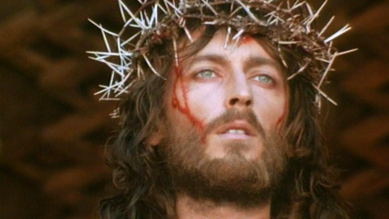 JESUS OF NAZARETH 1977 crucifixion backstage with
