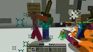 PopularMMOs Pat and Jen Minecraft NOOB VS PRO!!!   DEFEND THE COOKIES!   Mini Game