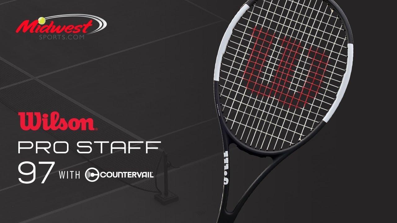 f272ba1bd Wilson Pro Staff 97 Countervail Tennis Racquet. Midwest Sports