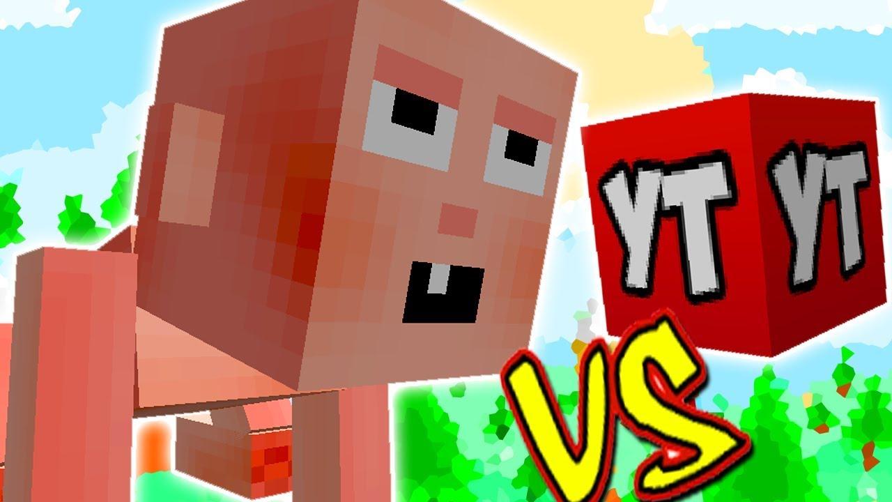 Bebe Gigante Vs Lucky Block Youtuber Minecraft Lucky Block