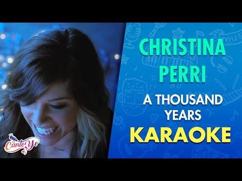 Christina Perri - A thousand years (Karaoke) | CantoYo