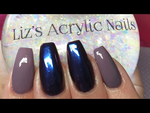 Acrylic Nails | Infill | Redesign | Chrome