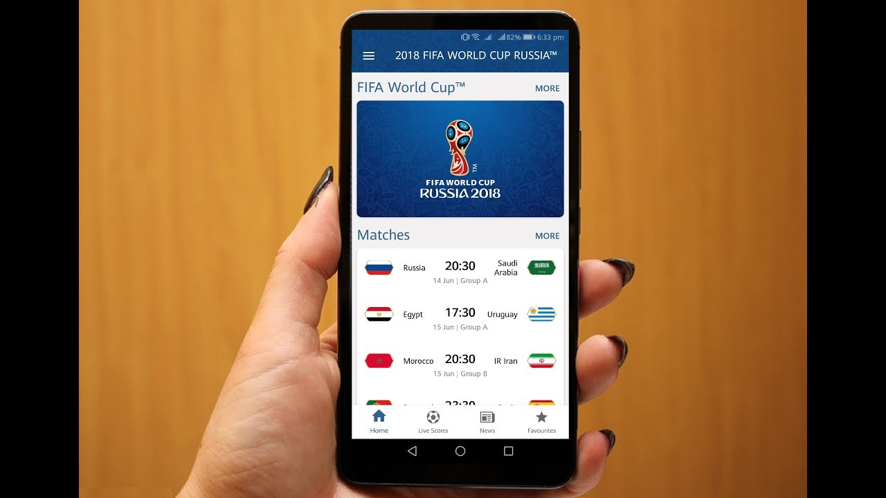 live world cup 2018 mobile app