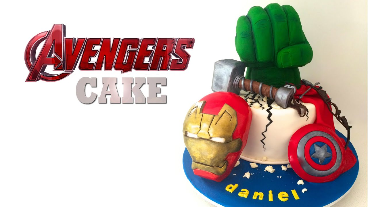 AVENGERS CAKE Captain America Hulk Iron Man by How To Cook That