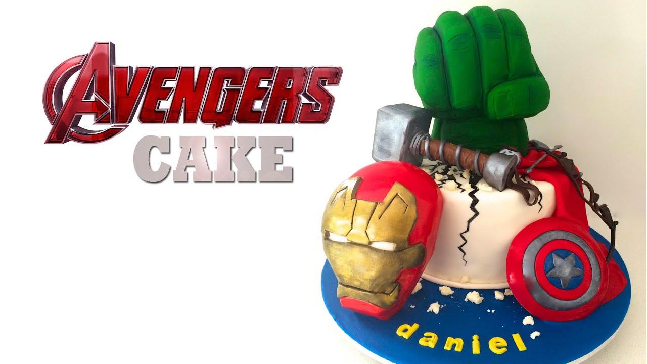 Avengers Cake Captain America Hulk Iron Man By How To