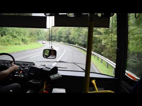Pécs - Komló közötti út busszal