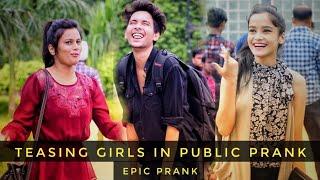 Best Prank Of 2018 |Teasing Girls In Public Prank| vishal goswami baba