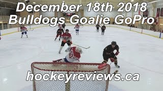 December 18th 2018 Bulldogs Hockey Goalie GoPro