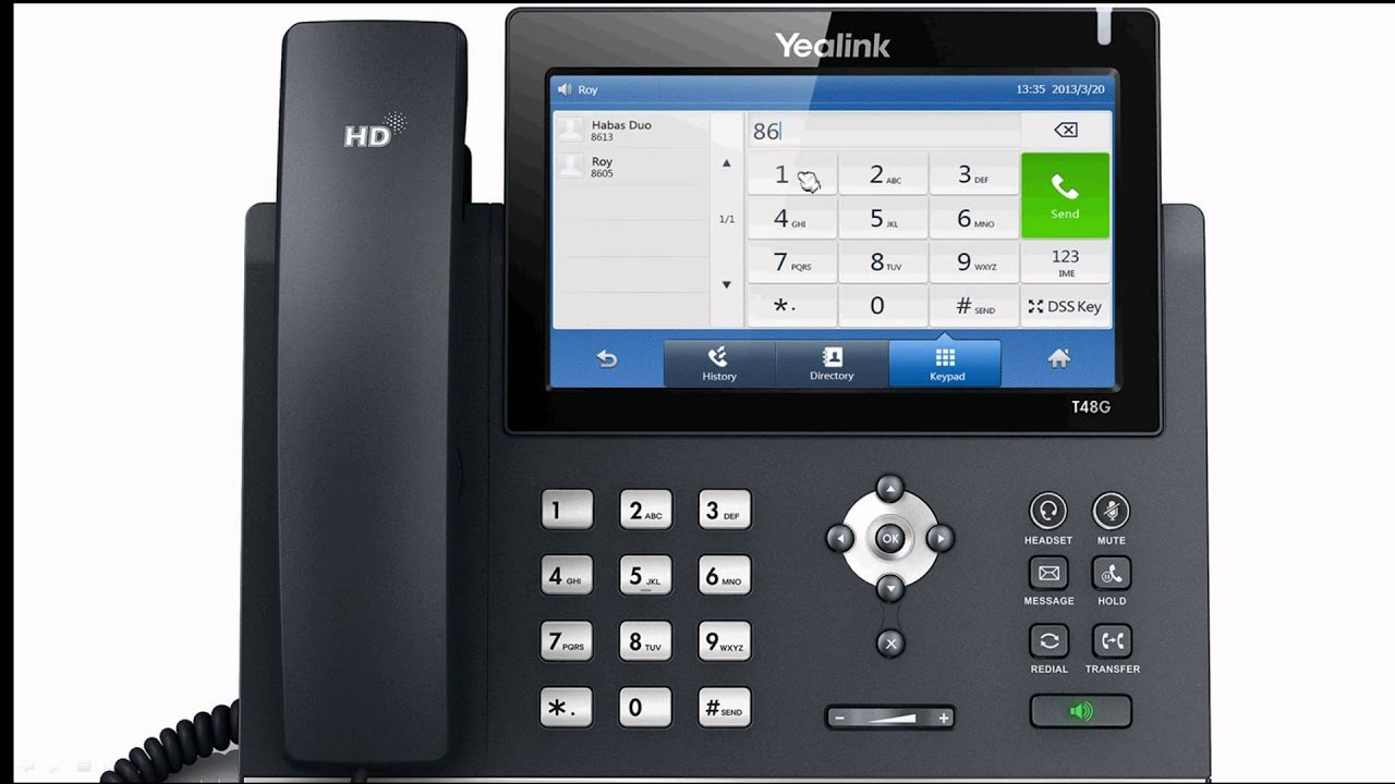 Yealink Sip T48g Broadsoft Call Park Youtube
