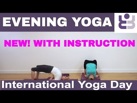 NEW! - WITH INSTRUCTION Evening Yoga Practice for International Day. Iyengar Yoga Sequence.