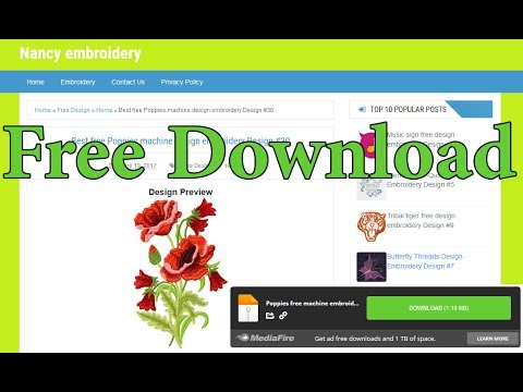 How To Download embroidery designs for Free From MediaFire !!
