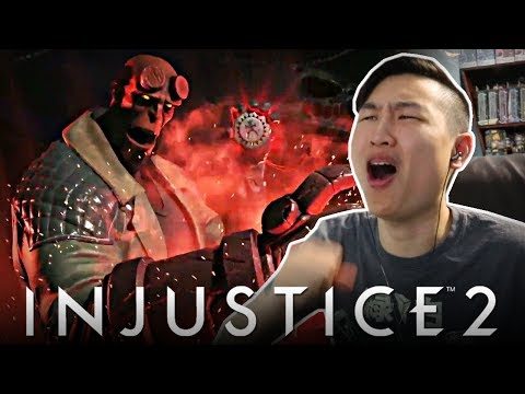 Thumbnail: Injustice 2 - Hellboy Gameplay Reveal Trailer!! [REACTION]