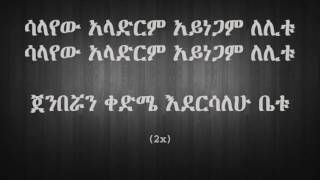 Ejigayehu Shibabaw - Salayew ሳላየው (Amharic With Lyrics)