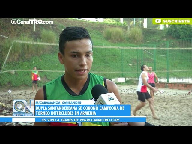 Dupla santandereana se coronó campeona de Torneo Interclubes en Armenia