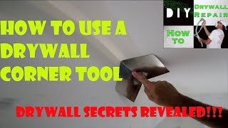 How to use a Drywall Corner Tool- Drywall Secrets Revealed- How to use a corner trowel for drywall
