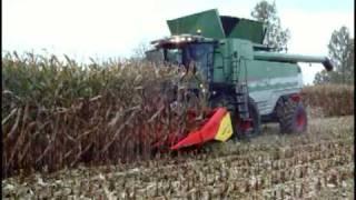 Kombajny zbożowe rotorowe FENDT pokazy. Zbiór kukurydzy na ziarno kombajn rotorowy KORBANEK