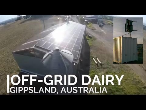Off-grid Solar and wind powered dairy farm - Gippsland, Australia.